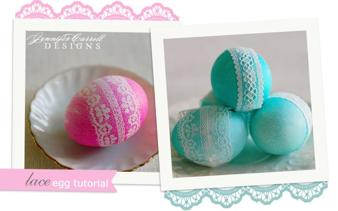 Laced Easter Eggs