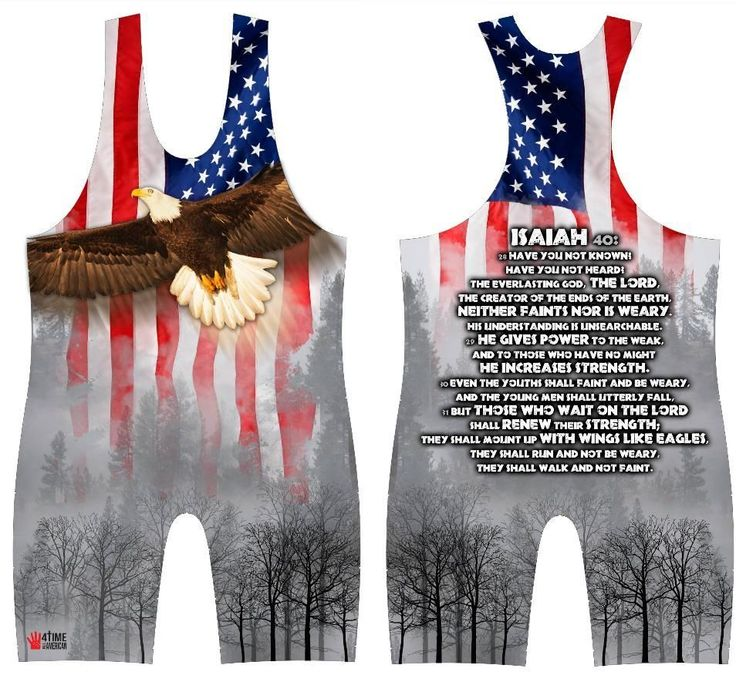 Isiah 40 - Eagle: sublimated wrestling singlet. Youth, Boys, Kids, Men's