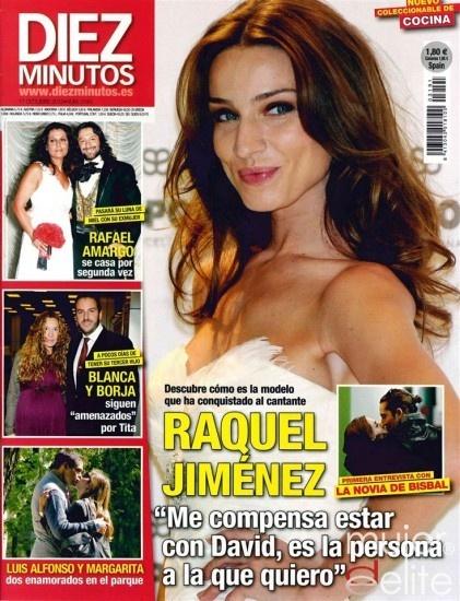 Las portadas de las revistas del corazón de esta semana: Raquel Jiménez, novia de David Bisbal, portada de Diez Minutos