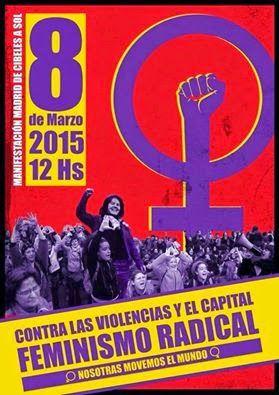 Heroínas: Manifestacion Madrid 8 marzo 2015 12hs. De Cibeles...