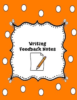 Writing Feedback Note Freebie