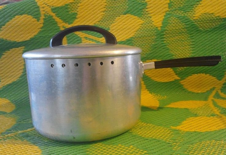 "Vintage Skillet Enterprise Aluminum Company 8"" Pot Heirloom Massillon OH Silver 