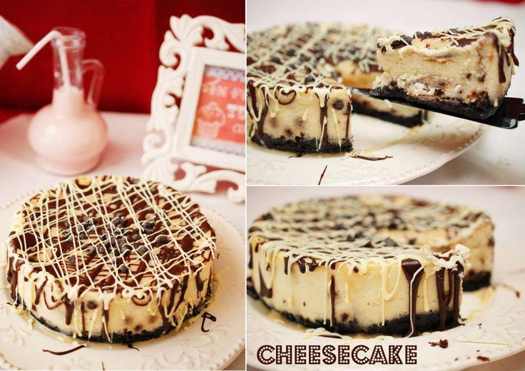 Cheesecake cu mascarpone si ciocolata - Retete culinare by Teo's Kitchen