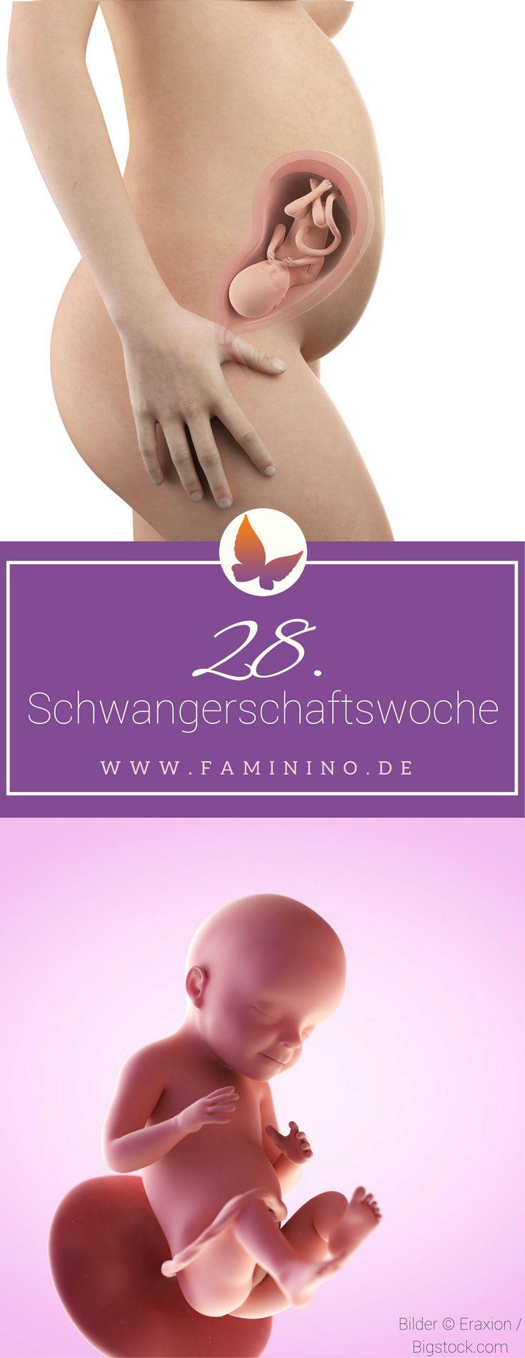 28. SSW (Schwangerschaftswoche): Dein Baby, dein Körper, Beschwerden und mehr