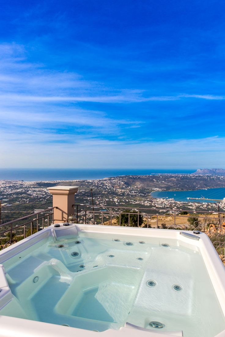 Golden Hill Villa in Malaxa Village, Chania, Crete #villa #chania #crete #greece #vacation_rental #holidays #luxurious_accommodation #privacy #visit_crete #unforgettable_holidays #live_your_myth_in_Greece #outdoors #love_the_view #hot_tube