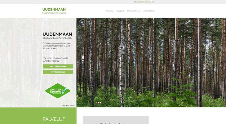 Sivuston suunnittelu ja toteutus Tehdas 050 (www.tehdas050.fi).  Yritys: Uudenmaan selluvillapuhallus