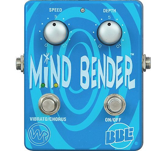 The Mind Bender is a dual-mode analog Vibrato/Chorus pedal that uses the BBD (Bucket Brigade Delay) circuit and was patterned after 2 rare vintage guitar effects pedals: the Boss VB-2 Vibrato (Pitch Vibrato) and Way Huge Electronics' Blue Hippo (Analog Chorus). The Mind Bender produces a wide ran...