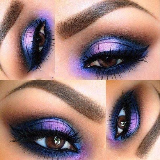 makeup eye purple