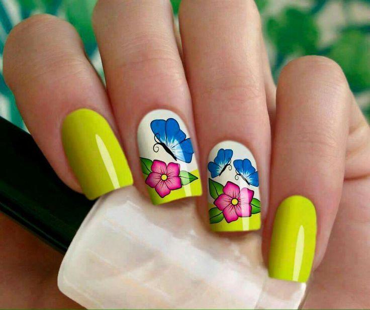 Mejores 42 imágenes de uñas con pegatinas en Pinterest | Pegatinas ...