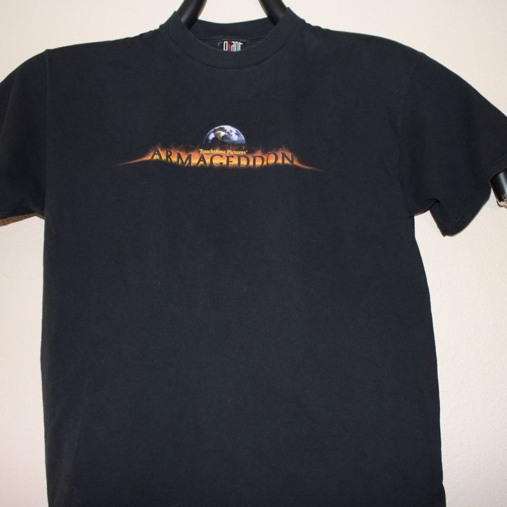 Men's T Shirt XL Armageddon Touchstone Pictures Heads Up! Vtg Affleck Willis #Gant #GraphicTee