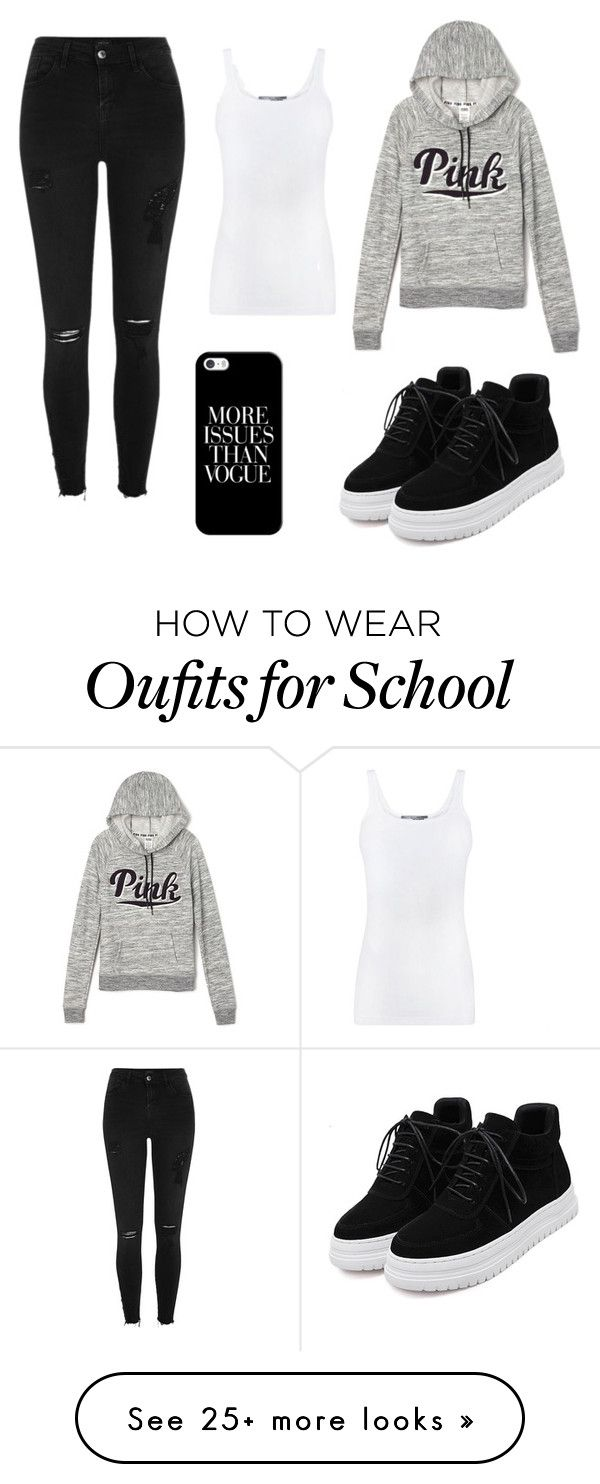 """""""School day"""" by amylangg on Polyvore featuring River Island, Victoria's Secret, Vince and Casetify"""