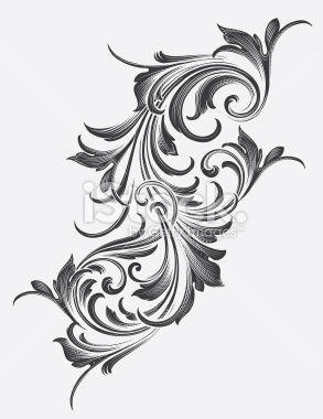 Victorian Acanthus Scrollwork Royalty Free Stock Vector Art Illustration
