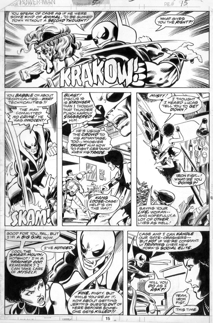 Power Man And Iron Fist #50, page 15 John Byrne & Dan Green. 1978.