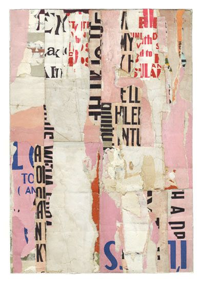 """Parts of speech 8 • by Lisa Hochstein – 7"""" x 10"""" salvaged paper"""