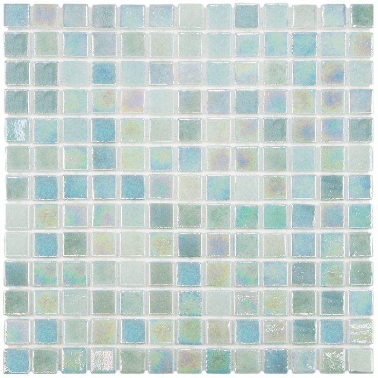 Somertile 13x13 Inch Guadiana Square Agua Mother Of Pearl Gl Mosaic Tile Case