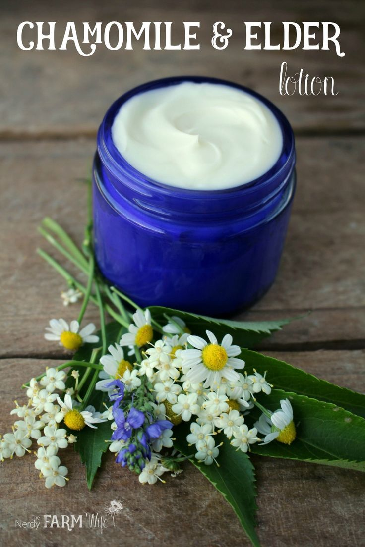 This unscented DIY Chamomile & Elder Lotion is perfect for those with sensitive skin. I chose avocado oil and avocado butter for this recipe because of how useful they can be for smoothing rough skin. Avocado oil contains essential fatty acids and vitamins A and E, has been studied in a cream for psoriasis (source) and is also a great choice for those with tree nut allergies.