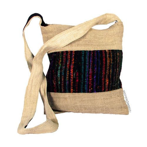 Hemp And Recycled Silk Shoulder Bag 86