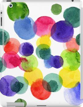 Абстрактная акварель разноцветный горошек. Ольга Мацкевич