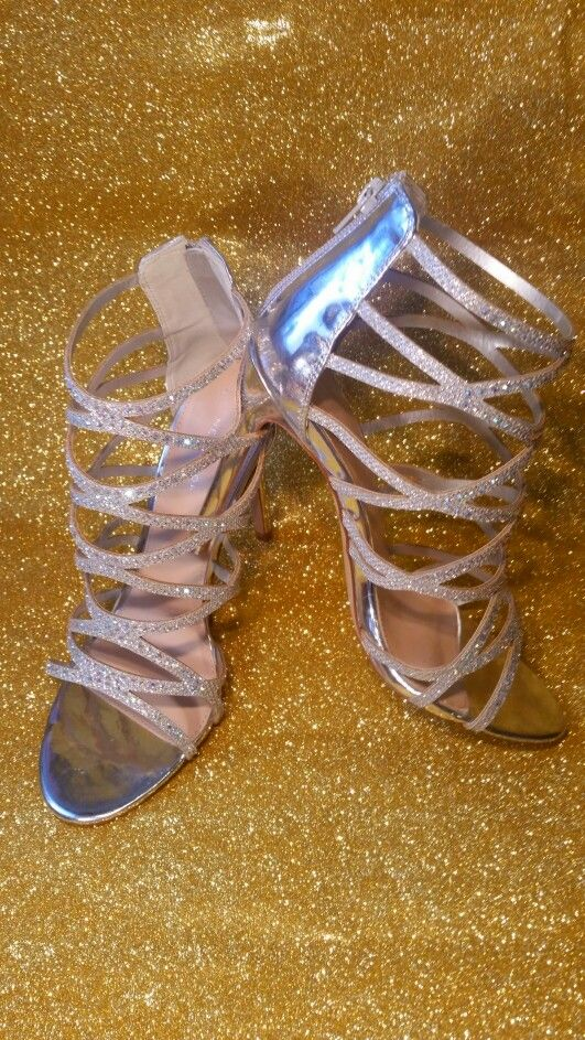 """Silver glitter fotoshoot shoes from: """"NEW LOOK"""""""