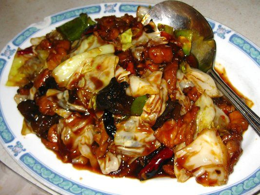 Twice Cooked Pork---My favorite Chinese dish---made with pork and cabbage and very spicy!!!