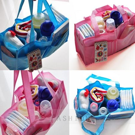 Mums Hand Organiser Bag Large Baby Nappy Changing Bags Insert Pocket 128-0014 | eBay