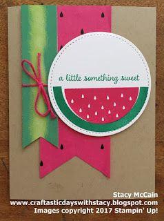 June 2017 Paper Pumpkin Alternative Idea - One in a Melon.  Inspired by Jenny Peterson.