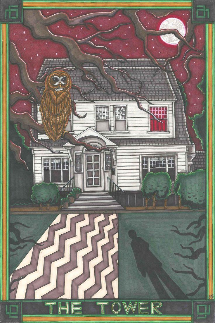 Twin Peaks Tarot Palmer House postcard PRINT. £1.89, via Etsy.