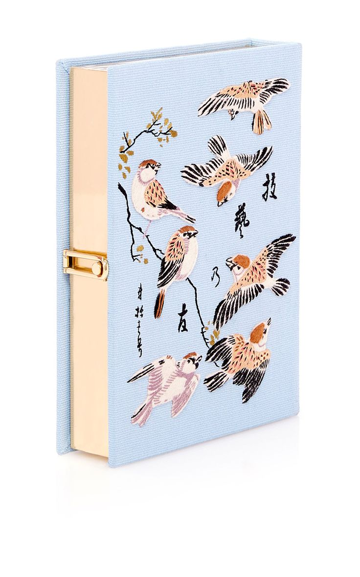 Birds Book Clutch by Olympia Le-Tan - Preorder now on Moda Operandi