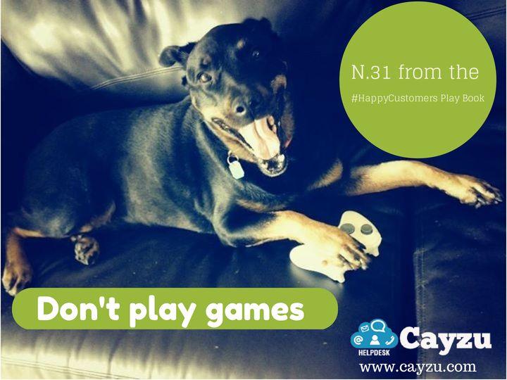 Don't play games. Visit: www.cayzu.com