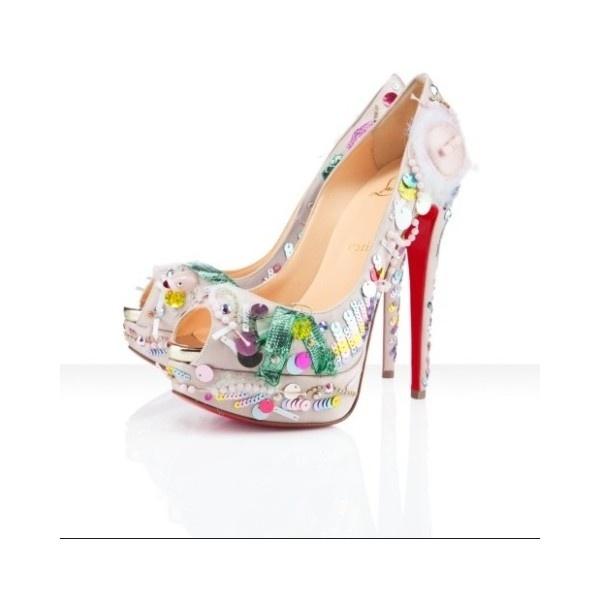 Zapatos para mujer Christian Louboutin via Polyvore