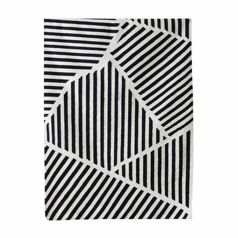 Puzzle Rug Black/White