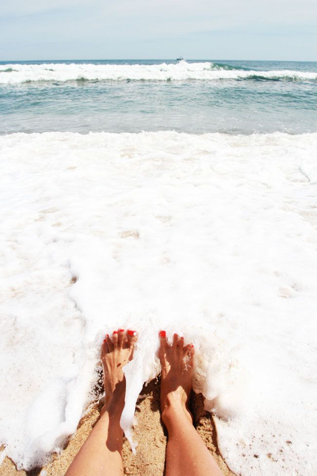Toes in the water.