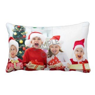Christmas Xmas Photo Template 2 children family Pillows
