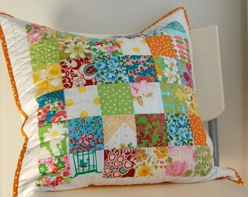 I love patchwork and bright colors...just like this!