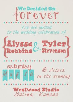 non conventional invitations - Google Search
