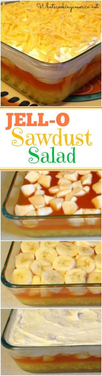 JELL-O Sawdust Salad Recipe - 1950's Classic Southern Favorite…