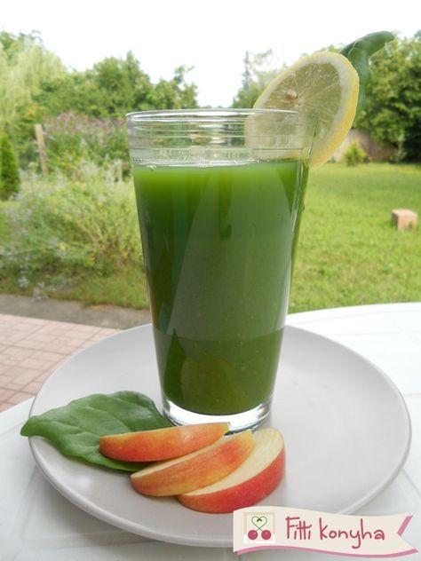 Zöld turmix banánból, almából és spenótból