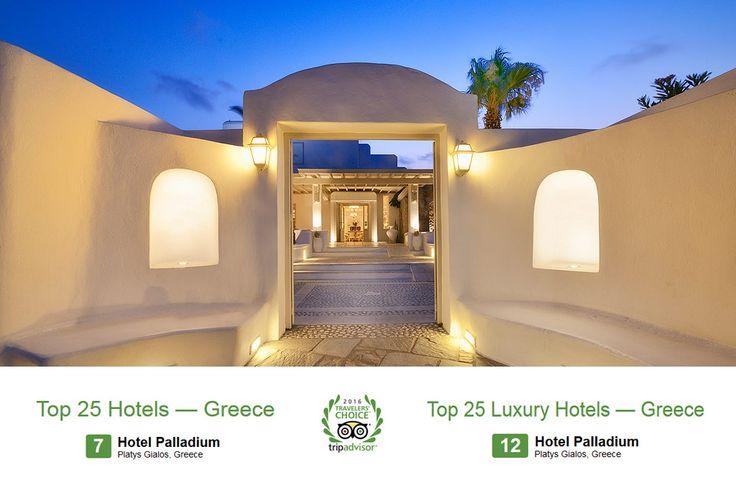 Palladium Boutique Hotel, Mykonos proudly has reached #7 in Tripadvisor's list of Best Hotels and #12 of Best Luxury Hotels in Greece for 2016!  #PalladiumMykonos #PalladiumHotel #Boutique #Hotel #Award #Mykonos #Greece #PlatysGialos #TravelersChoice #VisitMykonos #VisitGreece #Travel   http://www.hotelpalladium.gr/