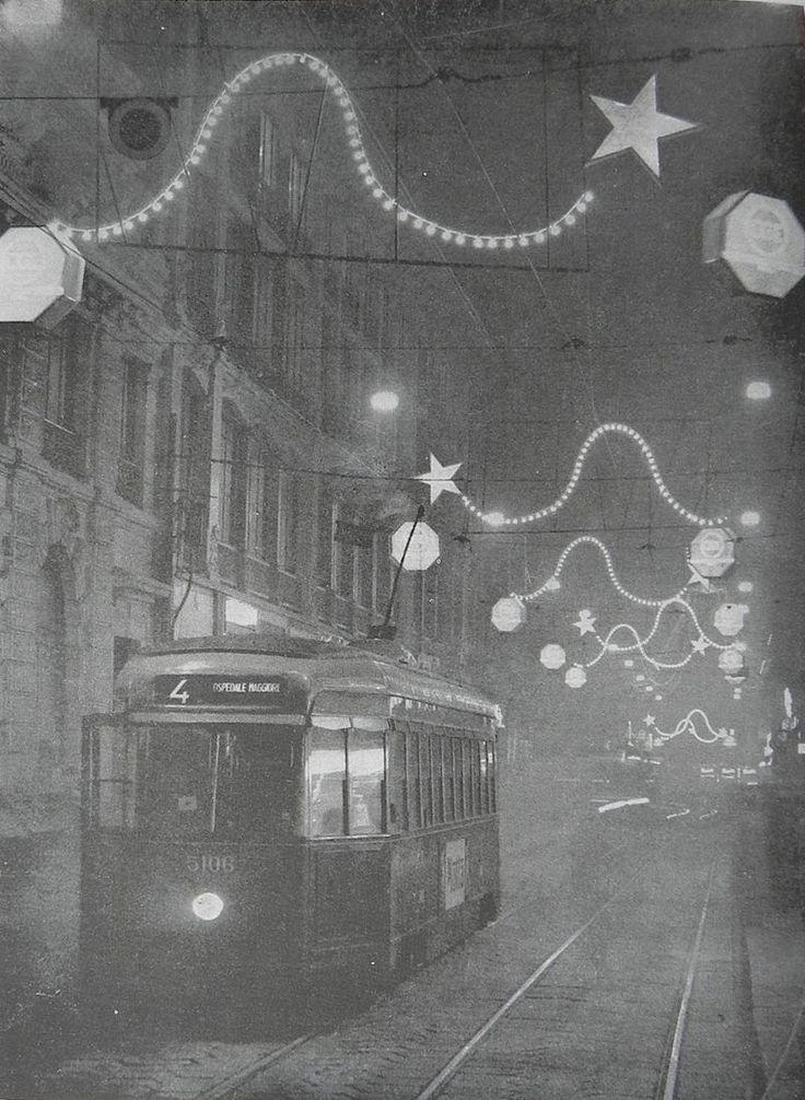 Tram ATM 5106 - Rete tranviaria di Milano - Natale del 1961