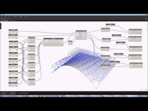 Autodesk Labs: Dynamo Plug-in for Robot Structural Analysis Truss 3D Model - YouTube