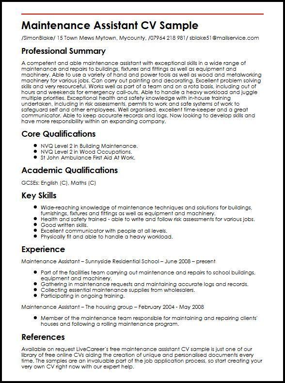 resume examples maintenance examples maintenance resume