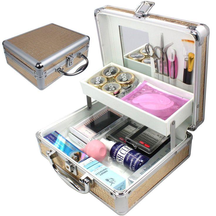 Fasion Mink False Eyelash Extension Eye Pad Glue Removal Kit Tools Full Set Box