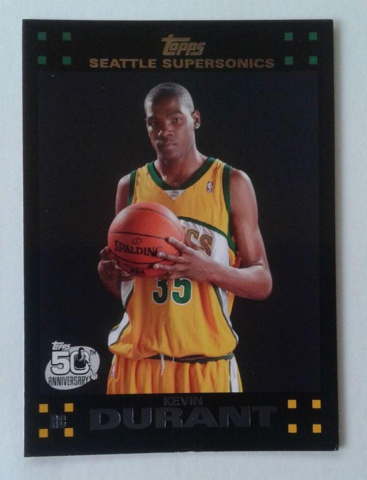 2007 08 TOPPS KEVIN DURANT ROOKIE CARD # 112 #GoldenStateWarriors