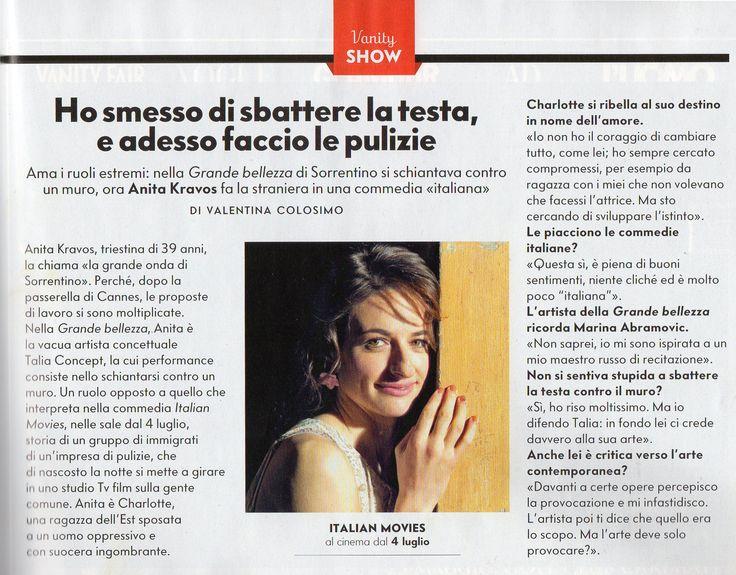 Anita su Vanity Fair