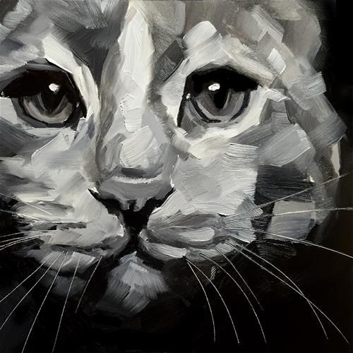 "Daily Paintworks - ""Cat Study"" - Original Fine Art for Sale - © Elizabeth Dawn Johnston"