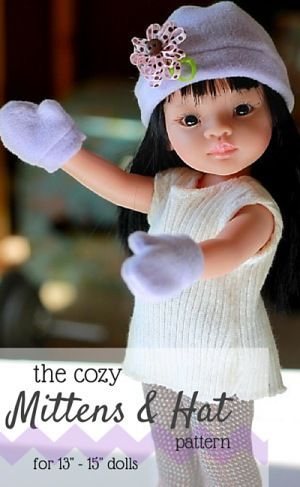 h4h les cheries paola reina doll pattern hats mittens free pdf tutorial