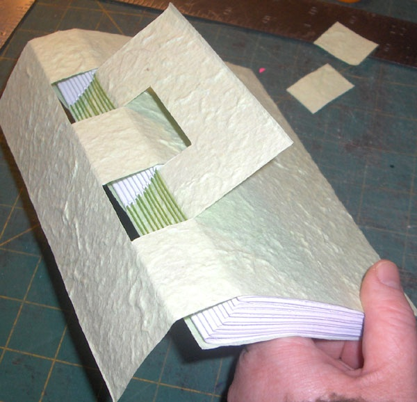 crossed structure hidden binding by Rhonda Miller