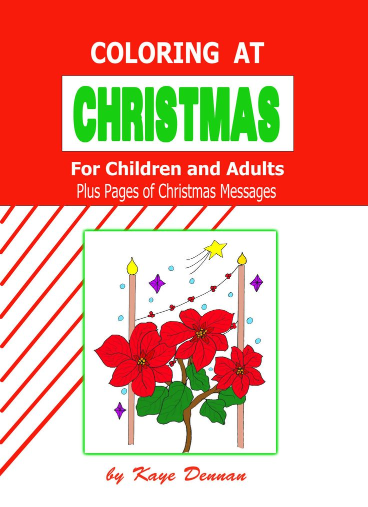 A lovely book full of coloring pages and Christmas messages.