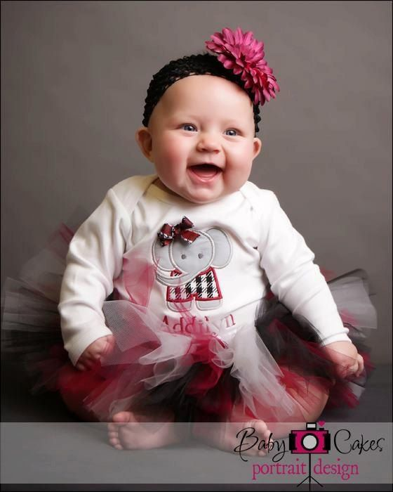Alabama Baby TUTU for Baby in Crimson and Black with by TutuCaChu, $39.99