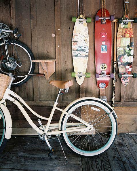 Organization Photo - Storage for bikes and skateboards